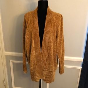 Gold Chanille Cardigan L